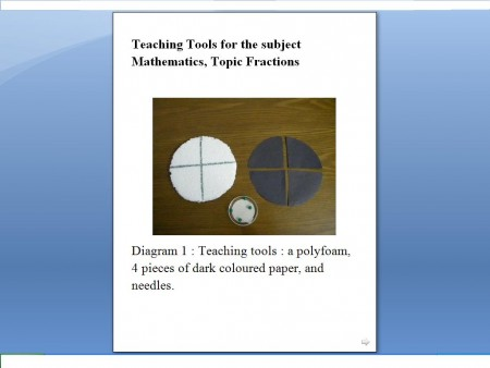 Write proper fractions- steps in lesson plan (Low Vision)