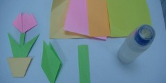 Gambar bahan-bahan untuk membuat origami sepasu bunga.