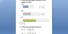 Equivalent fractions-worksheet (Low Vision)