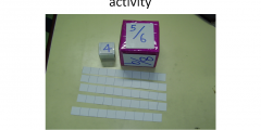 Subtraction of fraction with the same denominator up to 10 (Steps In Lesson Plan) - Low Vision